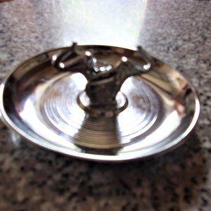 vintage metal change jewelry dish elephant plate